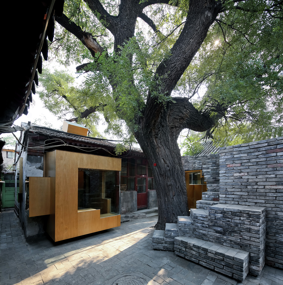 Micro Yuan'er Children's Library and Art Centre in the Dashilar neighborhood of Beijing, designed by ZAO/standardarchitecture. Image by Shengliang Su